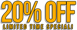 20% OFF Limited Time Special!